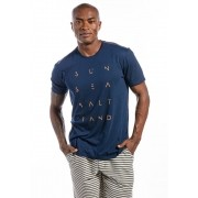 Camiseta Manga Curta Salt Sea Marinho