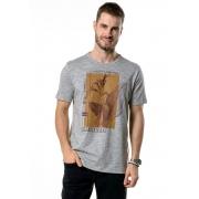 Camiseta Manga Curta Survival Cinza Mescla
