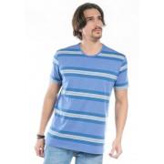 Camiseta Manga Curta Ton Sur Ton Azul Mescla