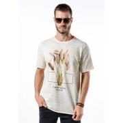 Camiseta Manga Curta Tropical Paradise Off White