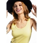 Camiseta Regata Básica Cia Gota Woman Amarela