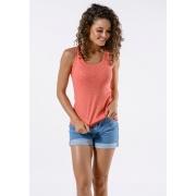 Camiseta Regata Básica Cia Gota Woman Coral Mescla