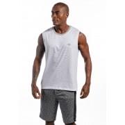 Camiseta Regata Machão Listrada Classic Branca