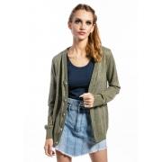 Cardigan Feminino Classic Lese Verde Militar