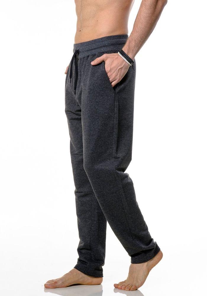 Calça de Moletom Jogger Basic Preto Mescla