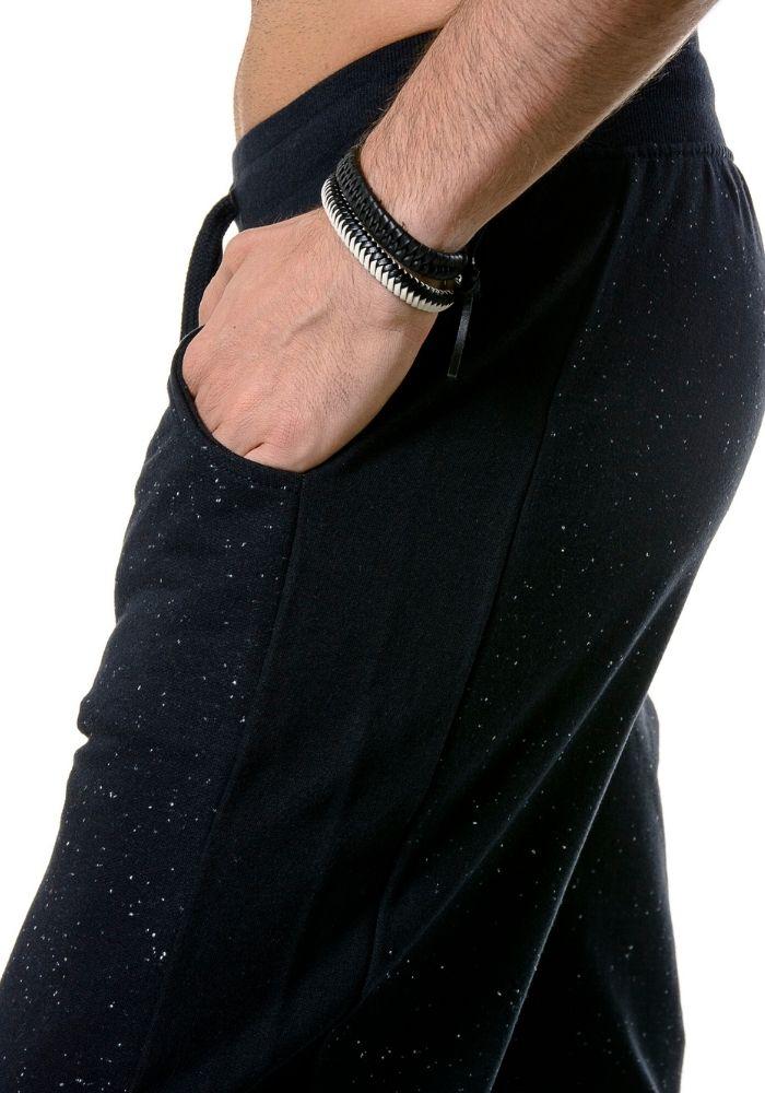 Calça de Moletom Jogger Black Star Preta
