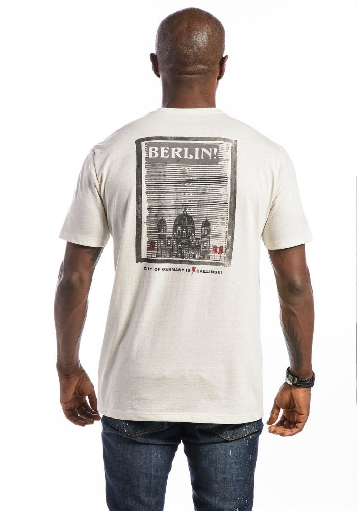 Camiseta Manga Curta Amêndoa Berlin