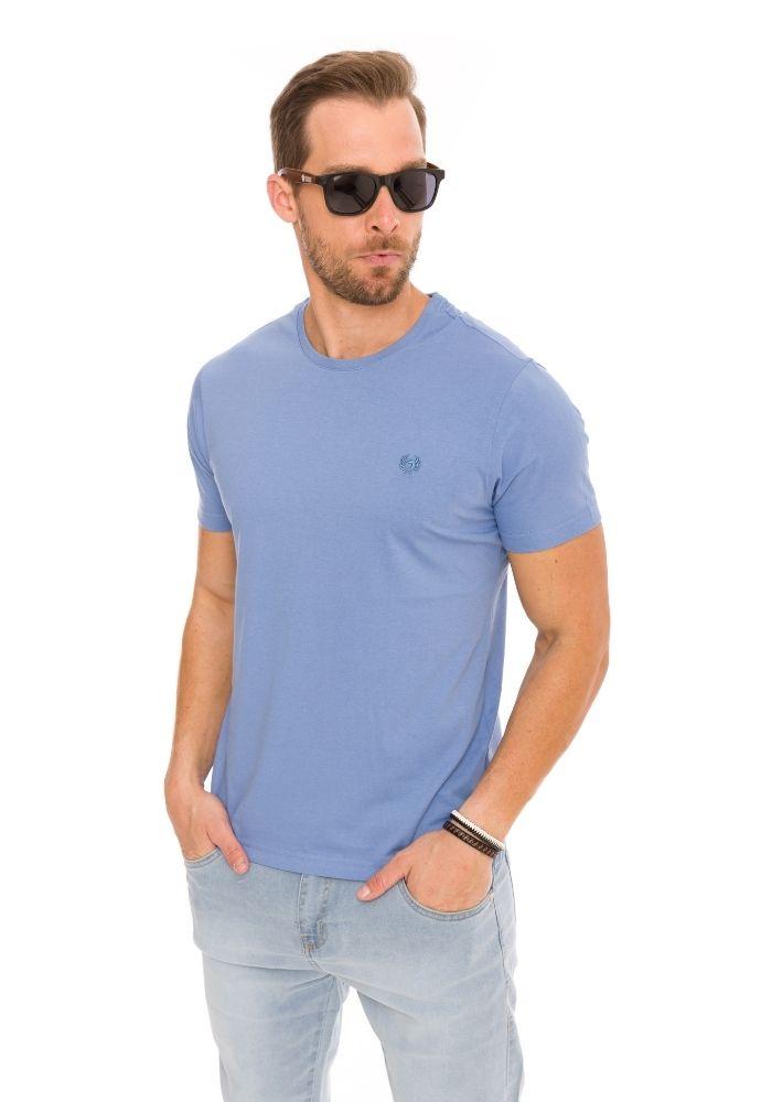 Camiseta Manga Curta Azul Basics Cia Gota