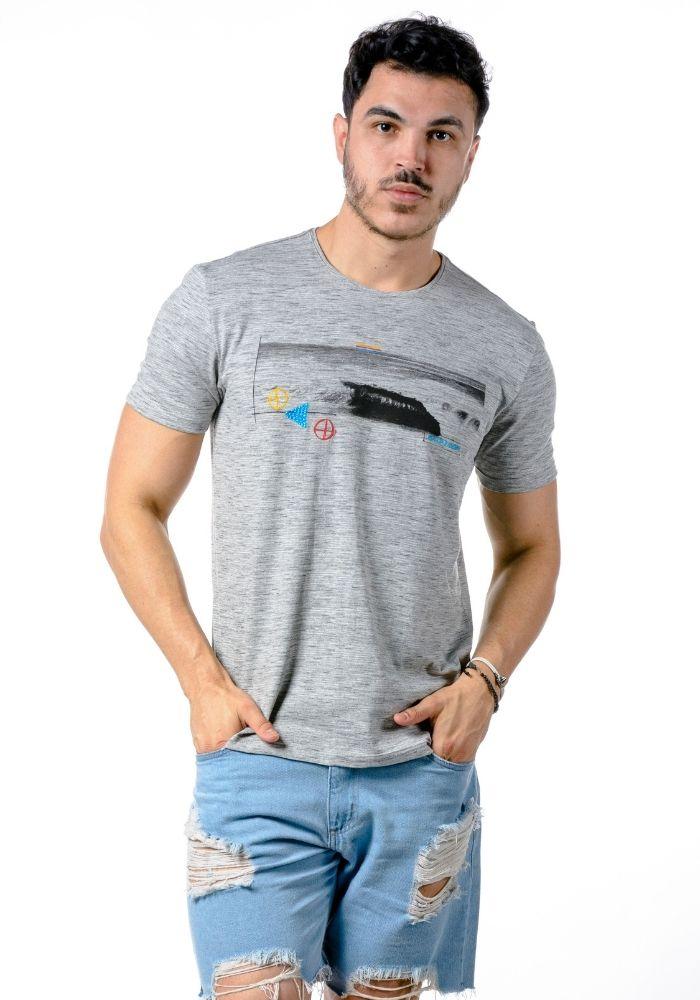 Camiseta Manga Curta BackDoor ONP Cinza Mescla