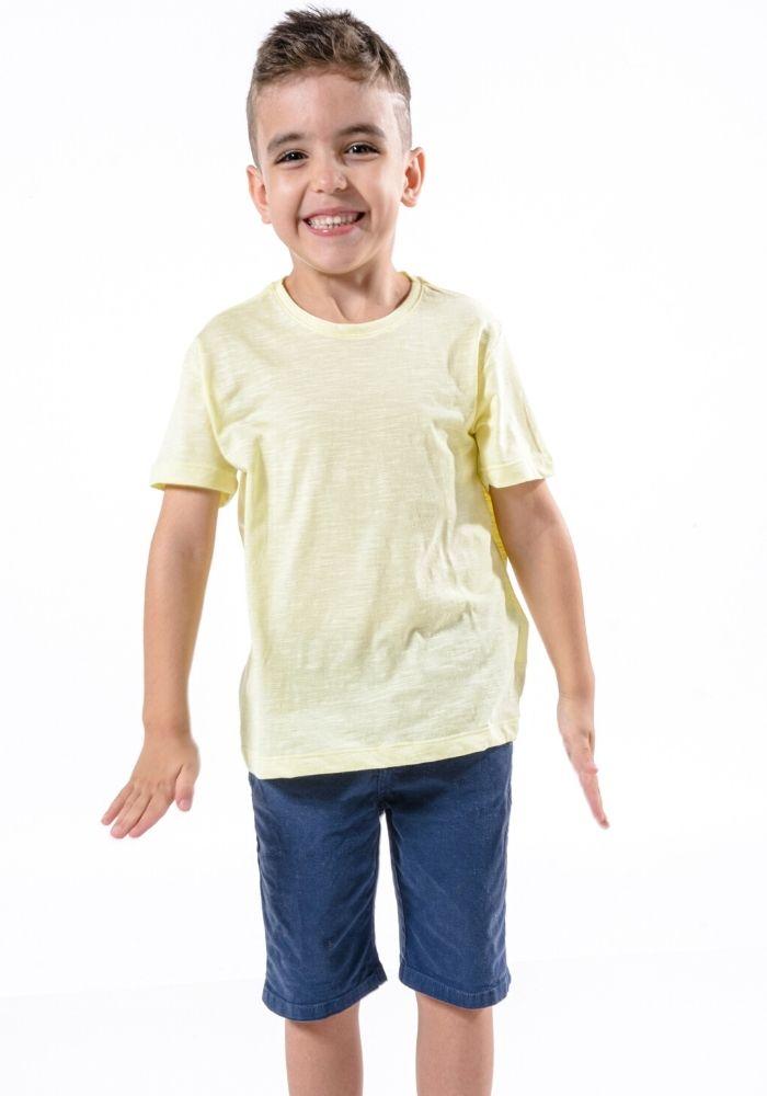 Camiseta Manga Curta Basic Kids Amarelo