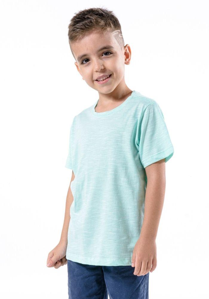 Camiseta Manga Curta Basic Kids Verde Claro