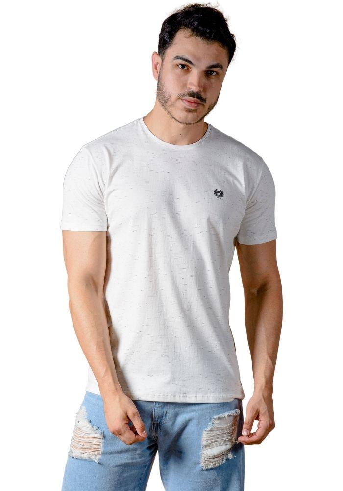 Camiseta Manga Curta Basic Logo Cia Gota Branco Jet