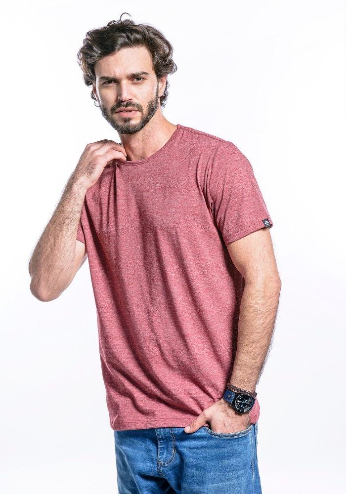 Camiseta Manga Curta Basics ONP Vermelho Mescla