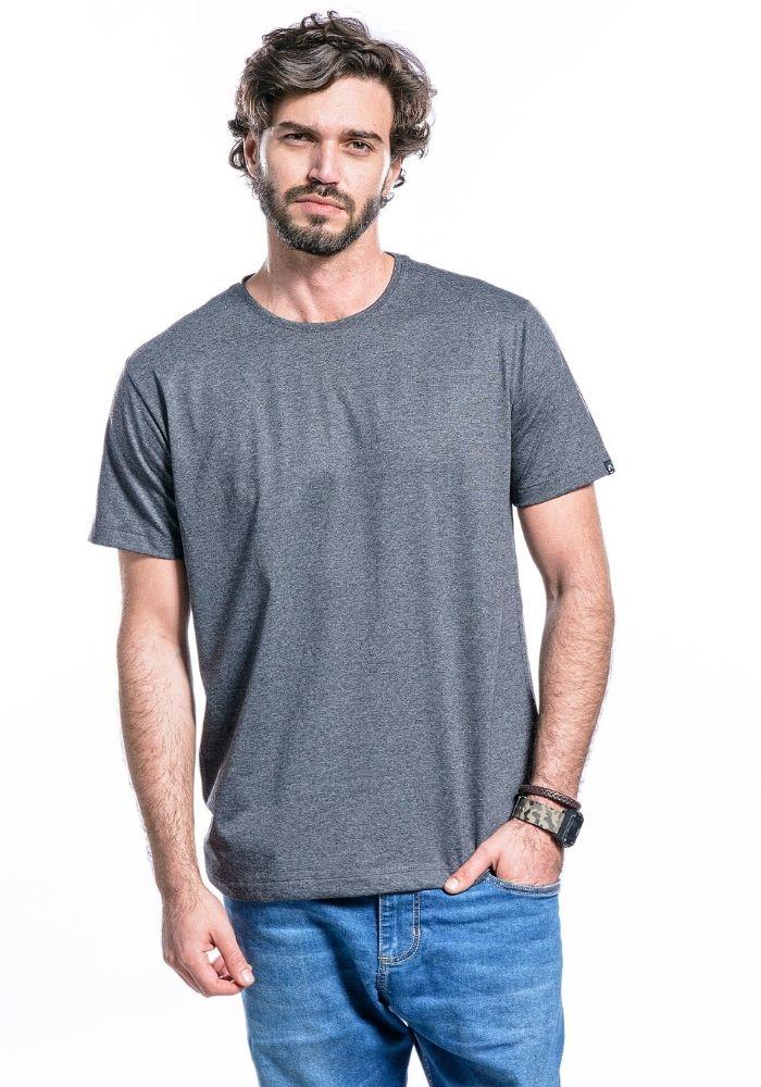 Camiseta Manga Curta Basics ONP Preto Mescla
