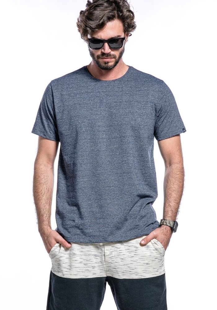 Camiseta Manga Curta Basics ONP Marinho Mescla