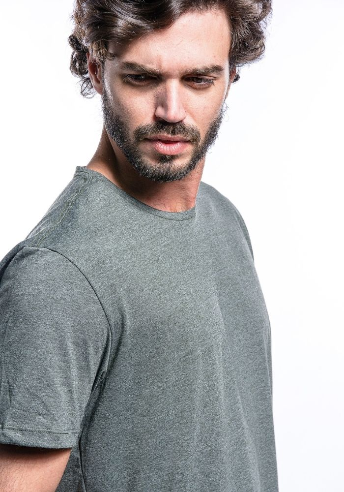 Camiseta Manga Curta Basics ONP Verde Mescla
