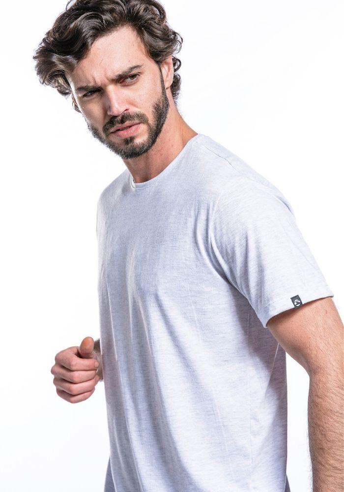 Camiseta Manga Curta Basics ONP Mescla Banana