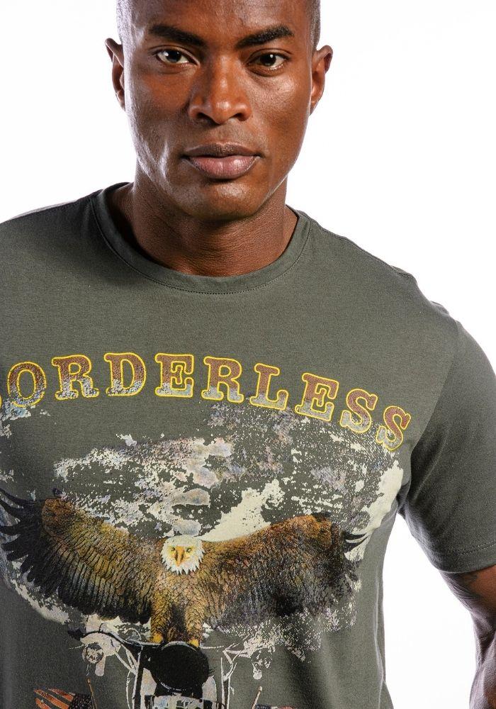 Camiseta Manga Curta Borderless Chumbo
