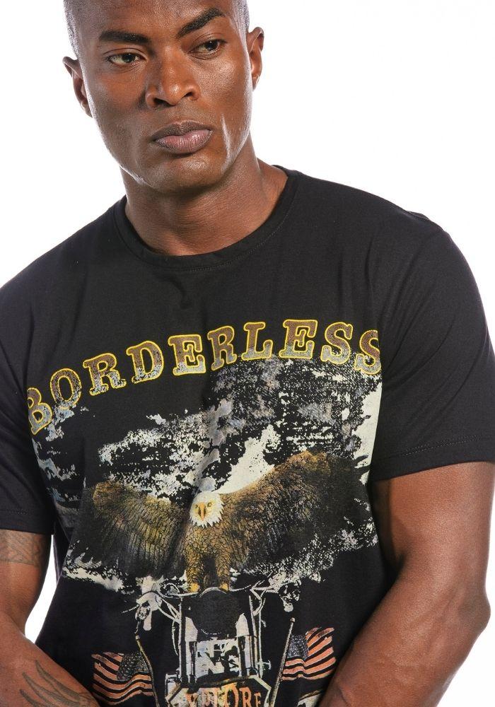 Camiseta Manga Curta Borderless Preta
