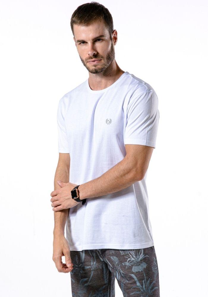 Camiseta Manga Curta Branco Logo Básica Cia Gota