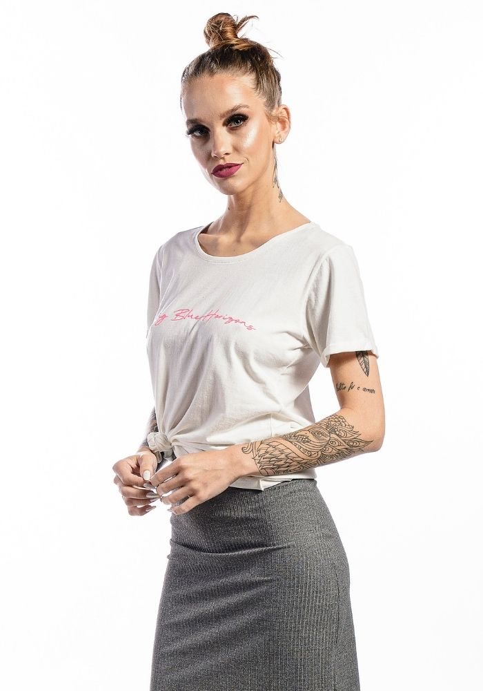 Camiseta Manga Curta Branco SAILING