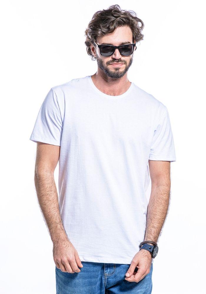 Camiseta Manga Curta Basics Cia Gota Branco Sujo