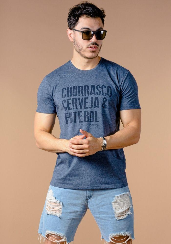 Camiseta Manga Curta Brasileirinha Marinho