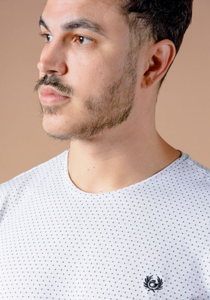 Camiseta Manga Curta Classic Jacquard Branco