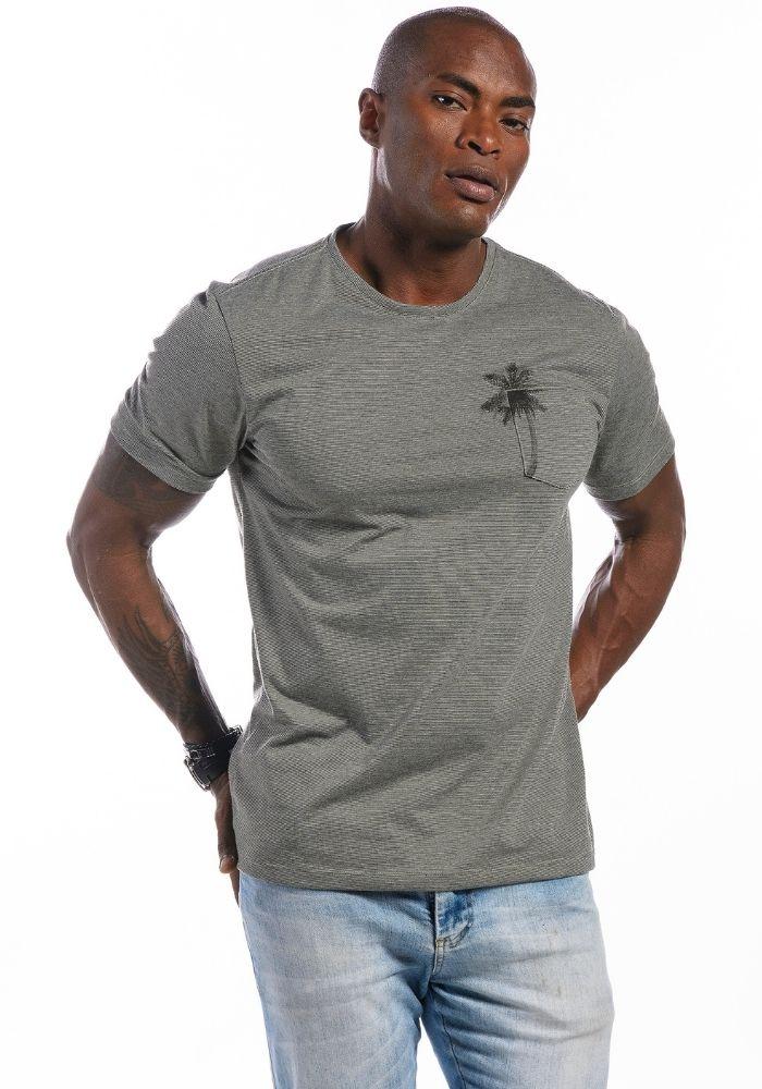 Camiseta Manga Curta Coconut Verde Militar