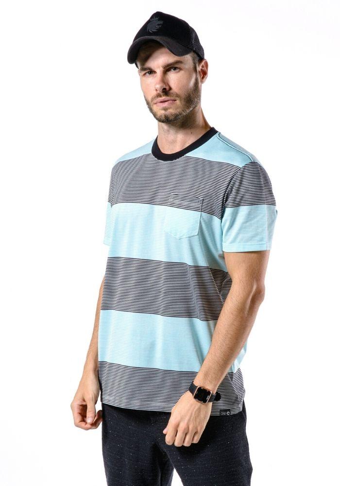 Camiseta Manga Curta Colors Azul