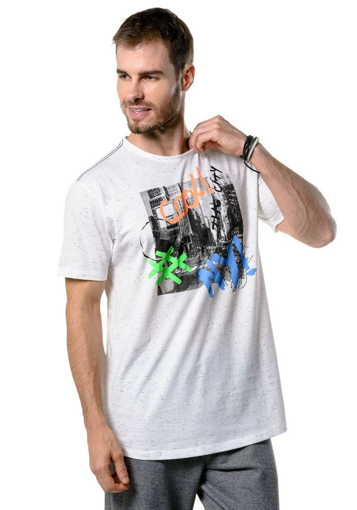 Camiseta Manga Curta Cool NYC Branca
