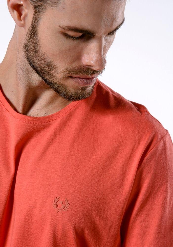 Camiseta Manga Curta Coral Logo Básica Cia Gota