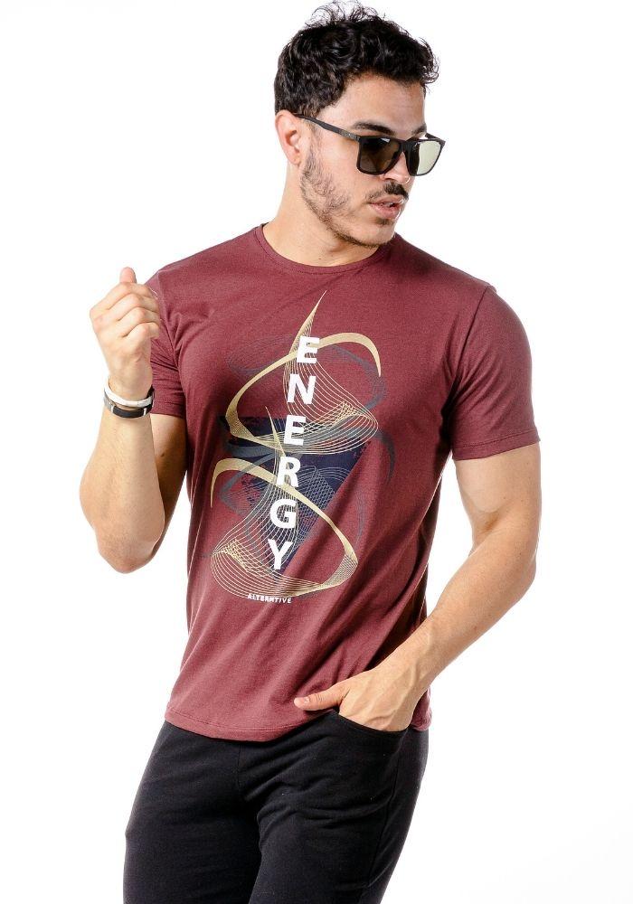 Camiseta Manga Curta Energy Bordo