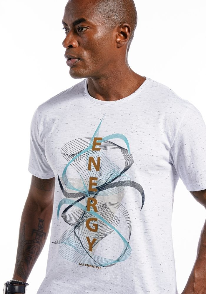 Camiseta Manga Curta Energy Branca