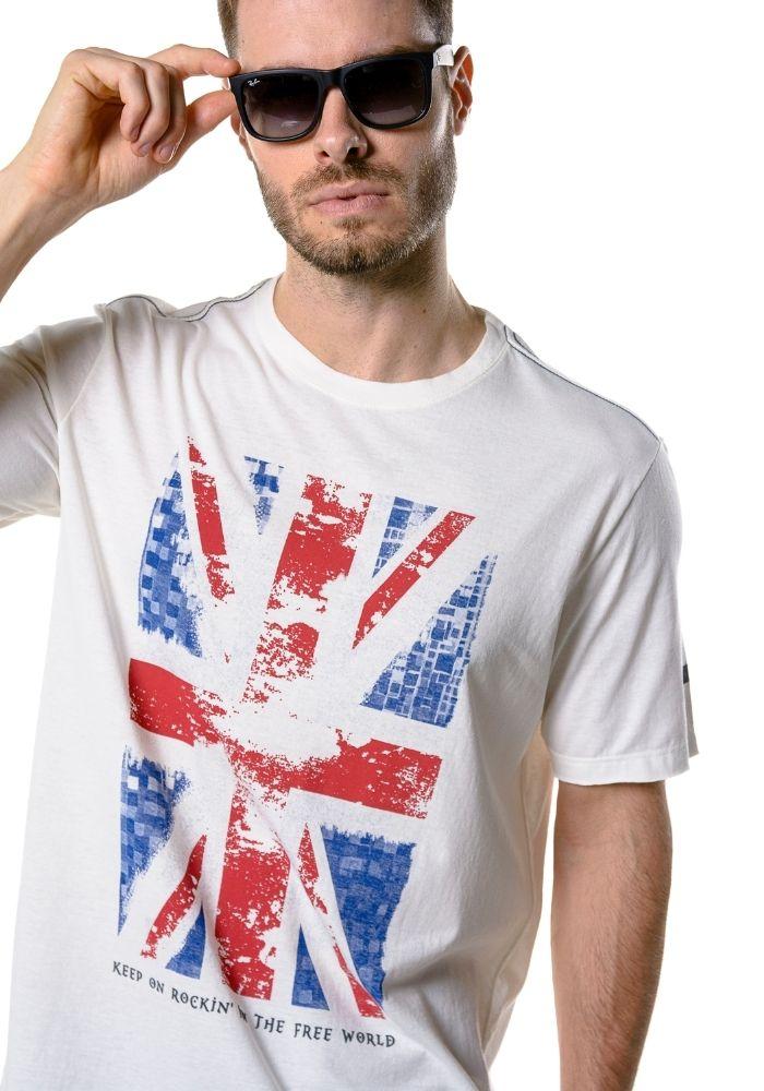 Camiseta Manga Curta England Off White