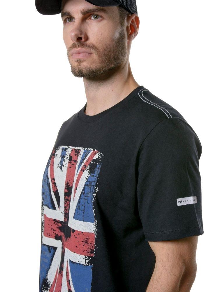 Camiseta Manga Curta England Preta