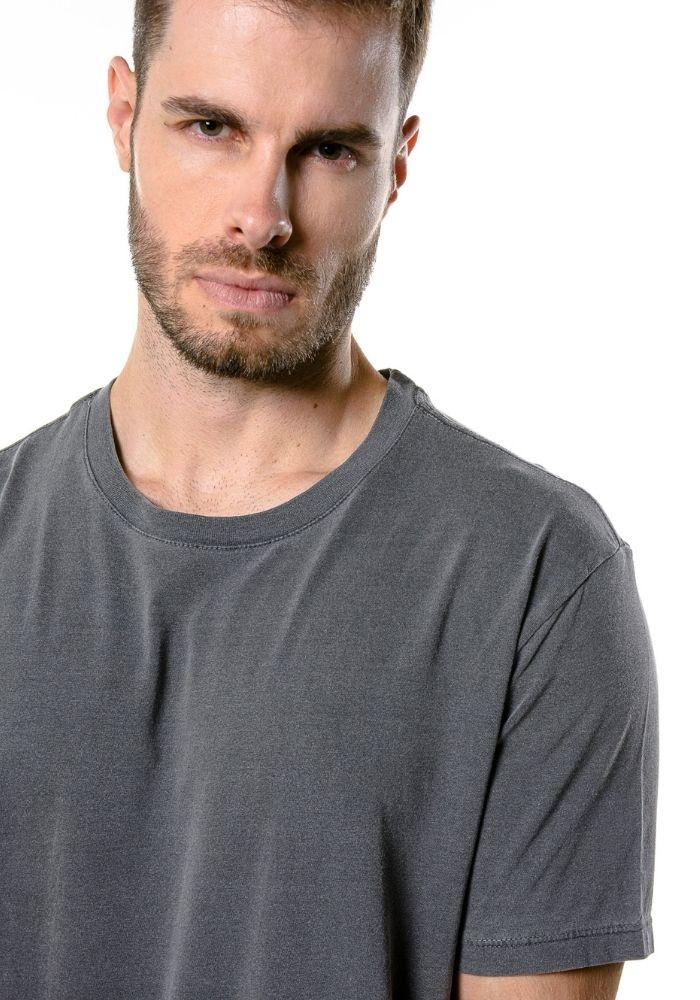 Camiseta Manga Curta Estonada Cia Gota Preto