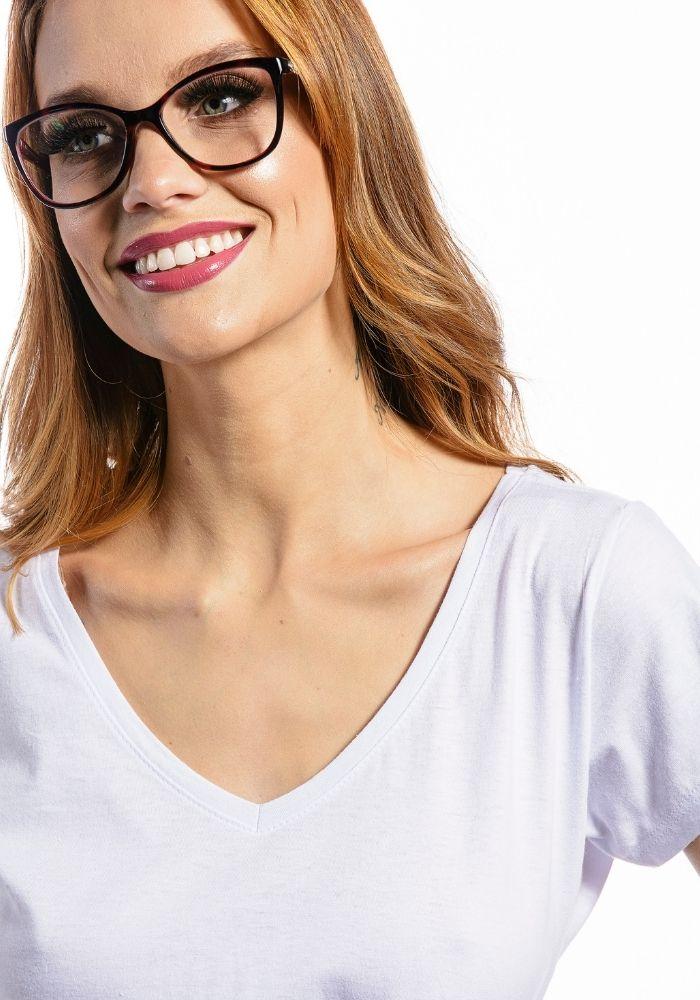 Camiseta Manga Curta Feminina Branco Basic