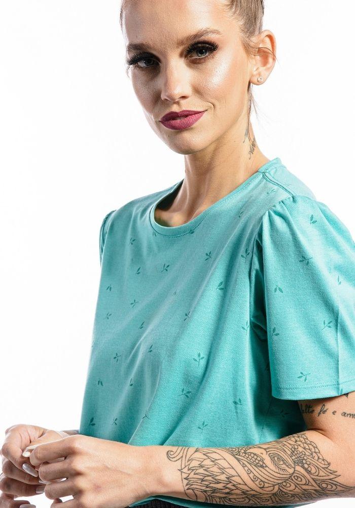 Camiseta Manga Curta Full Garden Feminina Verde