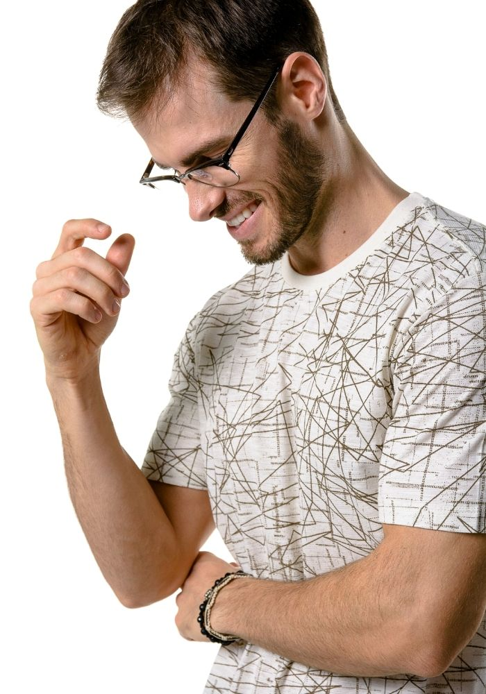 Camiseta Manga Curta Full Geometric Off White