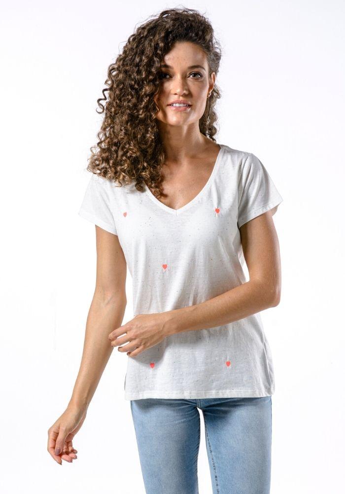 Camiseta Manga Curta Full Love Woman Branca