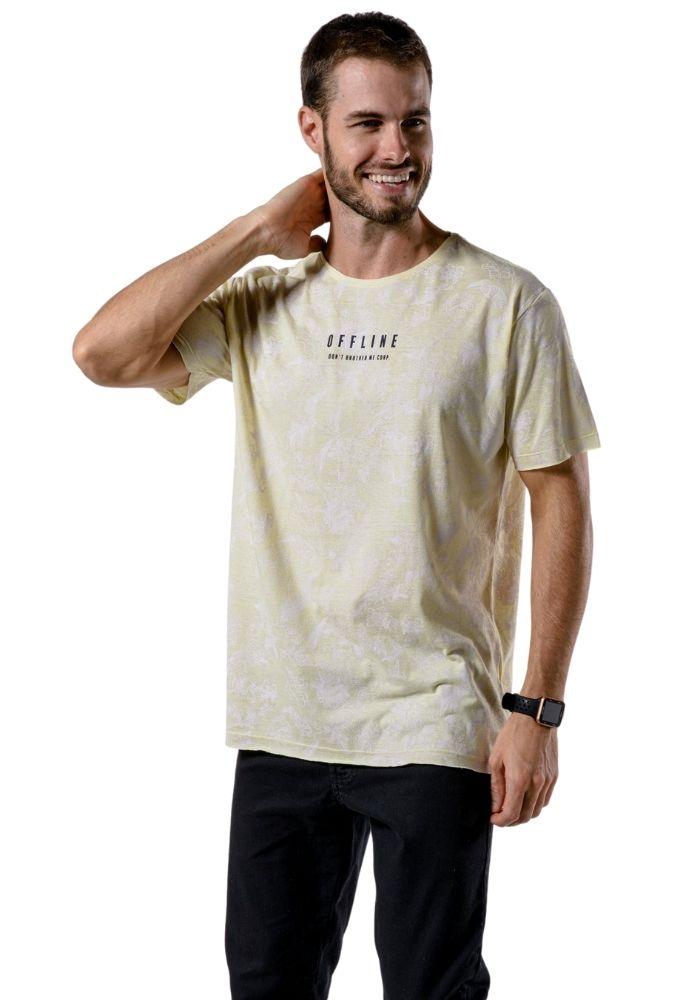 Camiseta Manga Curta Full Offline Amarela