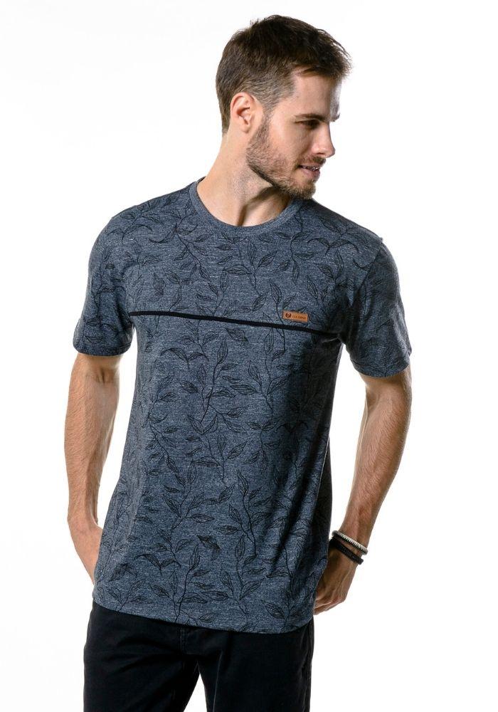 Camiseta Manga Curta Full Sheets Marinho Mescla
