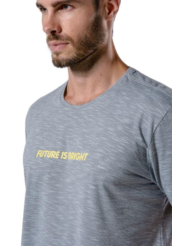 Camiseta Manga Curta Future Is Bright Cinza