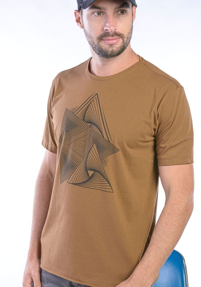 Camiseta Manga Curta Geometric