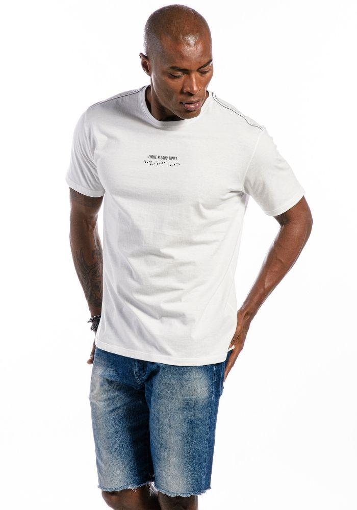 Camiseta Manga Curta Have A Good Time Off White