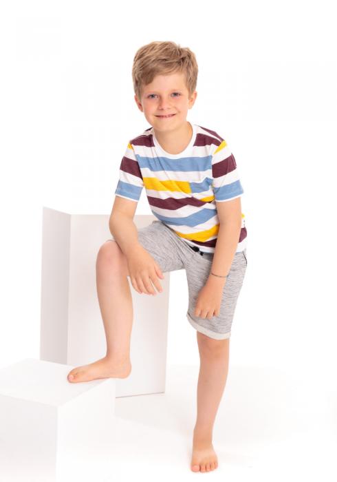 Camiseta Manga Curta Infantil Colors Funny Off White