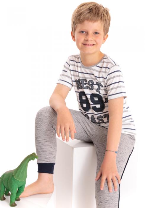 Camiseta Manga Curta Infantil Listrada West Coast Branco