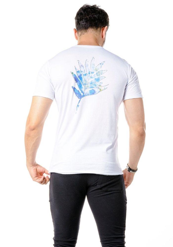Camiseta Manga Curta Leaf Colors Branca