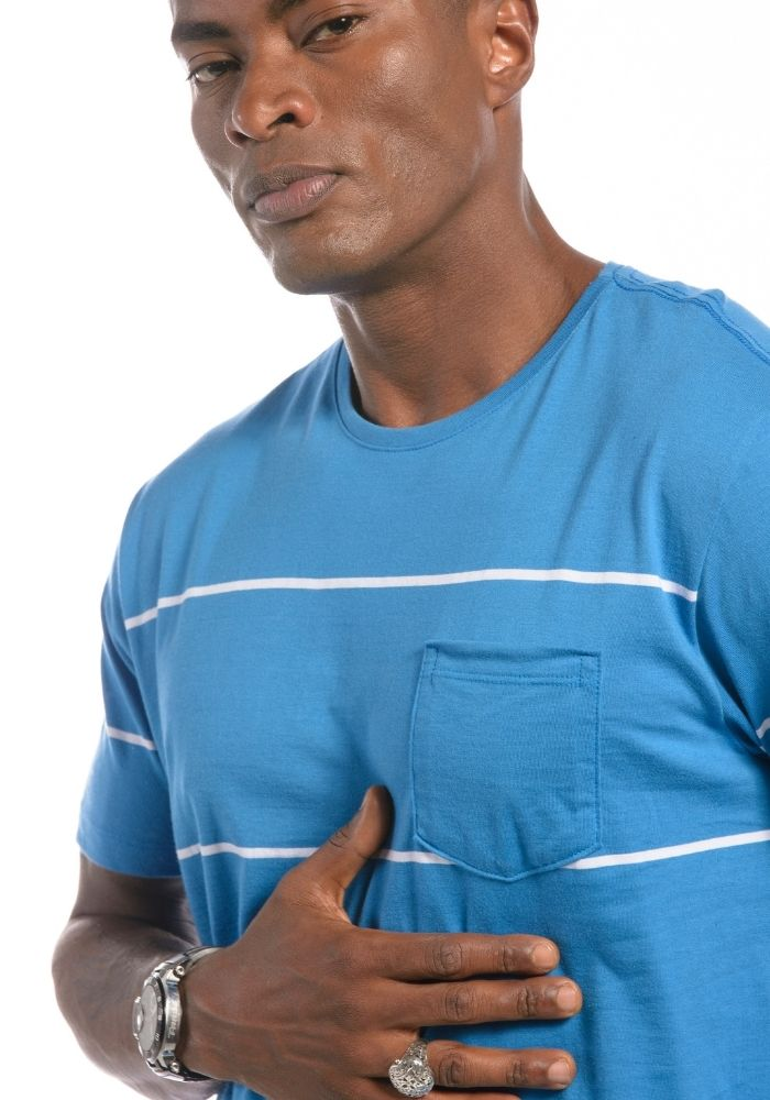 Camiseta Manga Curta Listrada Blue